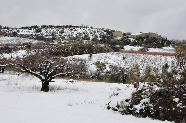 Hameau de la Batie sous la neige