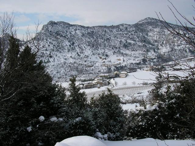 Hiver neigeux sur le village
