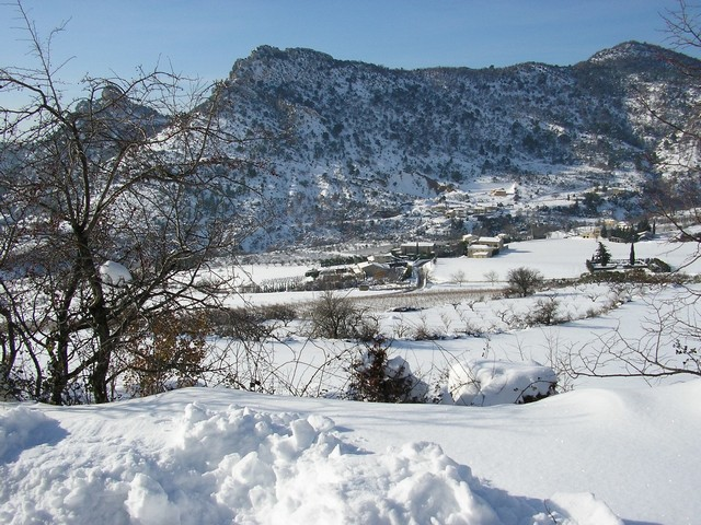 Vue du village depuis la Batie